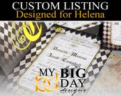 Helena's Wedding Invitation sets: 50, with double sided printing, and white envelopes