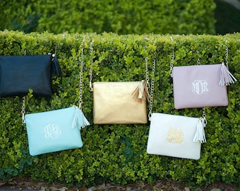 Kendall monogrammed purse in six great colors