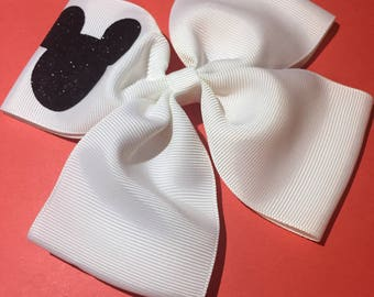 Glitter Mickey Mouse Hairbow
