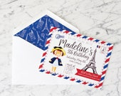 Madeline Inspired invitations, envelope liners and envelopes
