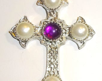 Vintage Sarah Coventry  Crusader Cross Necklace