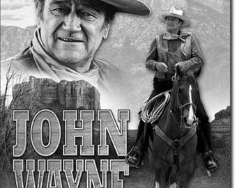 John Wayne An American legend vintage style metal sign  movies western cowboy approx. 12 1/2 inches X 16 inches