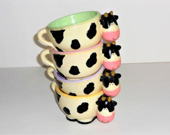 Cow Plastic Bowls Ice Cream Cereal Novelty Children's Bowls