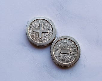 Five (5) Hand Cast Pewter Counter tokens