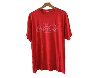 Vintage Coca Cola Tshirt Red Size XL