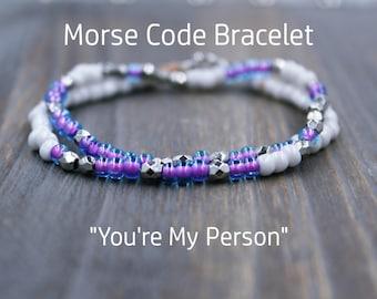 You're My Person Bracelet - Grey's Anatomy Youre My Person - You Are My Person Bracelet - You're My Person Gift - Best Friend Bracelet Set