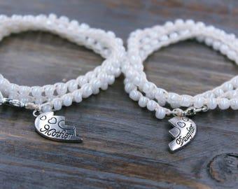 Matching Mother Daughter Bracelet Set, Mother Daughter Gift Set, Gift for Mom from Daughter, Gift for Daughter from Mom, Gift from Mother