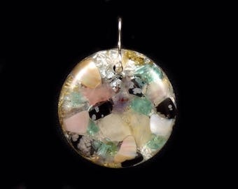 Orgone Positive Energy Generator Pendant with multiple stones (see list in description) (e3)