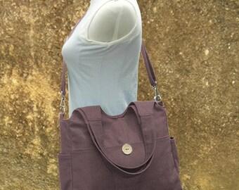On Sale 20% off Brown diaper bag, canvas tote purse, womens purse, shoulder bag,  crossbody messenger bag for men and women