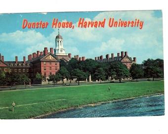 HARVARD UNIVERSITY, Dunster House, Harvard University, Cambridge Massachusetts Vintage Unused Postcard
