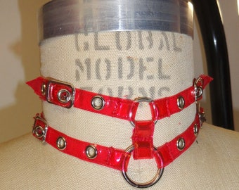 Red Clear Buckle Choker (Artifice photoshoot sample)