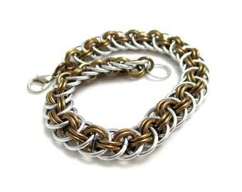 Bronze Viperbasket Chainmaille Bracelet - Bronze Chain Maille Bracelet - Chain Bracelet