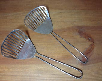 Vintage Ekco Kitchamajig Metal Slotted Spoon, Spatula, and Similar Made in Hong Kong, Whisk, Kitchen Utensil, See Description