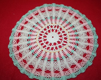 Vintage Hand Crocheted Doily- 9.5 inch