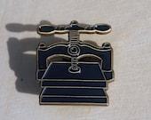 Bookbinding Nipping Press Enamel Pin