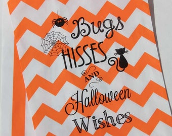 xosale 24 halloween treat bags with free stickers bugs hisses and halloween wishes halloween