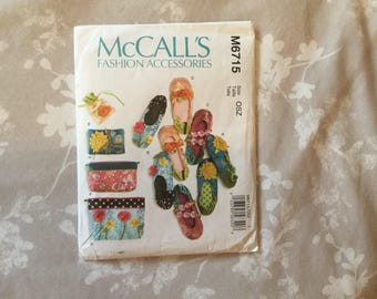 McCalls M6715 Fashion Accessories Pattern Uncut
