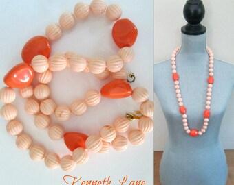 Kenneth Lane Bead Necklace Single Strand Vintage 1980s Designer Jewelry