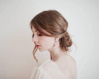 Pink Earrings, Pink Lace Earrings, Stud Earrings, Blush Pink Earrings, Bridal Earrings, Bridesmaids Earrings, Wedding Earrings