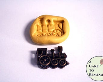 Little train silicone mini mold for cake pops or little cupcake toppers. Also great for resin, polymer clay or pmc jewelry making  M5233