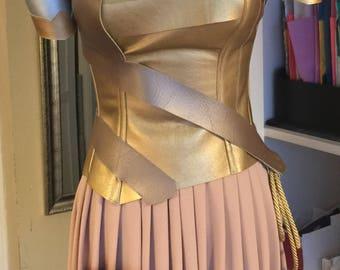 Gal Gadot Wonder Woman Costume  Warrior  Custom Made Sizes XS-L