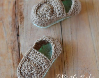 Baby Loafer Booties Crochet PATTERN PDF DOWNLOAD