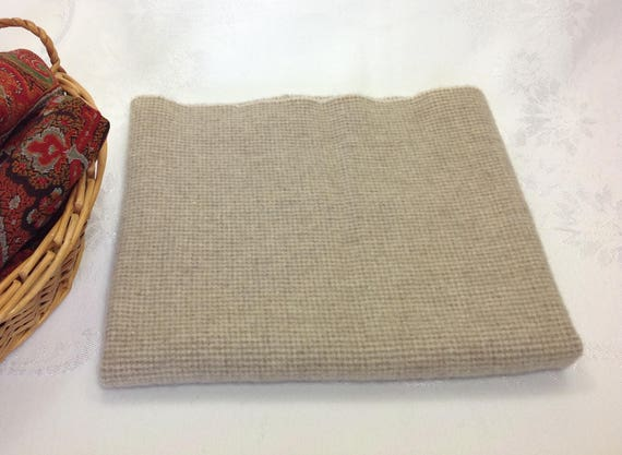 Fat 1/4 Yard, Freckles, Mill Dyed Wool Fabric for Rug Hooking and Applique,  W375, tiny natural and tan check