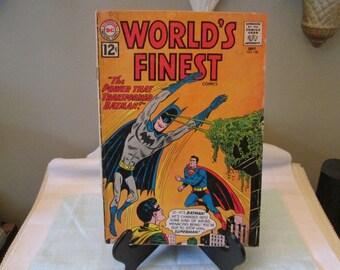 Vintage DC Comic Book Superman, Batman, Number 128, 1962, Comic Book Collector, The power That Transformed Batman,