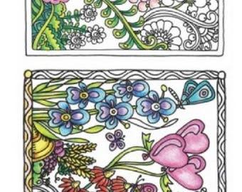 hampton art color me beautiful flower garden set cling rubber stamp - Color Me Beautiful Book