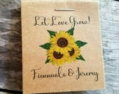 CRAZY SALE ~ Wedding Favors Bridal Shower Favors Sunflowers MINI Seeds Let Love Grow Flower Seed Packets Shabby Chic Rustic Cute & Little