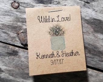 Mini Rustic Flower Seeds Wedding Favors W Babys Breath In A Mason Jar