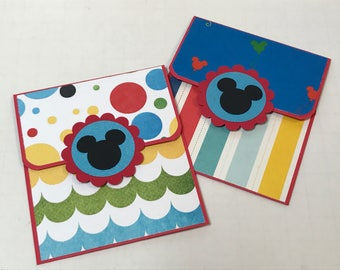 Disney gift card holders (2) birthday gift
