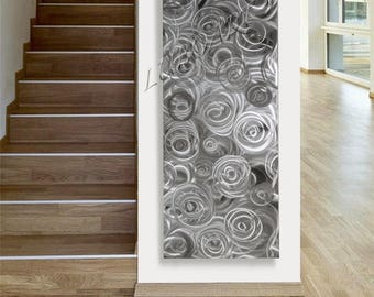 "SALE 70% OFF Long 60"" Art modern 3D effect Led Rgb Halogen colour light reflect wall decor home office Abstract Metal Sculpture hand made -"