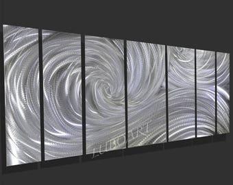 "SALE 70% OFF Art Metal 66"" wall sculpture multi panel office home decor Video 3D Halogen Led Rgb colour light reflect modern hand made - Lub"