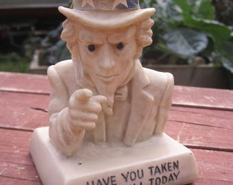 Russ and Wallace Berrie Uncle Sam Bust