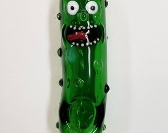 Pickle Pipe ~ hand blown glass by Ehi