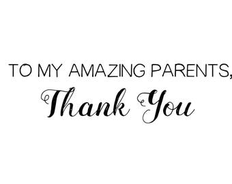 To My Amazing Parents Thank You Card