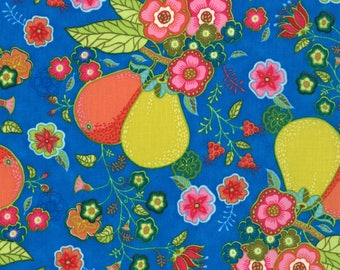 Lily Ashbury Fabric, Trade Winds by Lily Ashbury for Moda Fabrics, 11451-12 Macaw Blue