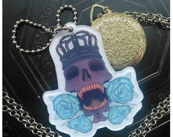 "Ritual Skull double sided 2.5"" Acrylic charm"