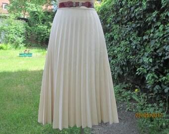 Pleated Skirt / Skirt Vintage / Pleated Skirts / Pleated Skirt Cream / Accordion Skirt / Size UK16 / EUR44