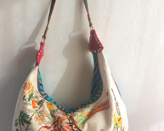 Summer Multi-Print Slouch Hobo Bag