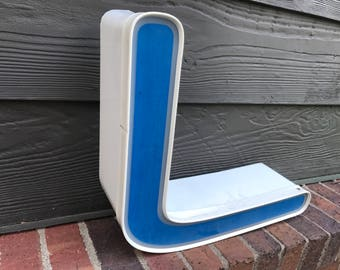 L - Reclaimed vintage letter - Blue - XL