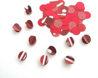 Circle Confetti, confetti with 4-sided accent circles, birthday party decor, unique confetti, wedding confetti