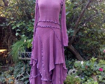 Long Plum Dress