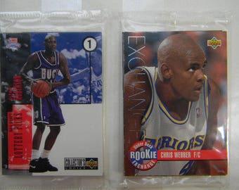 2 Unopened Upper Deck Basketball Sets, Rookie Exchange / Draft Trade, 1990's Basketball
