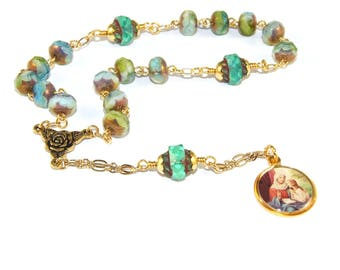 Mother's Rosary - Saint Anne Chaplet Rosary, Patron Saint of Mothers, Homemakers & Pregnancy