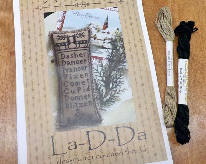 And Rudolf by La-D-Da...cross stitch pattern and Needlepoint Inc. silk thread