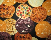 Cookies Variety Bakery Snacks Food Cotton Fabric Fat Quarter Or Custom Listing