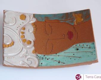 ceramic soap dish - ceramic jewelry dish