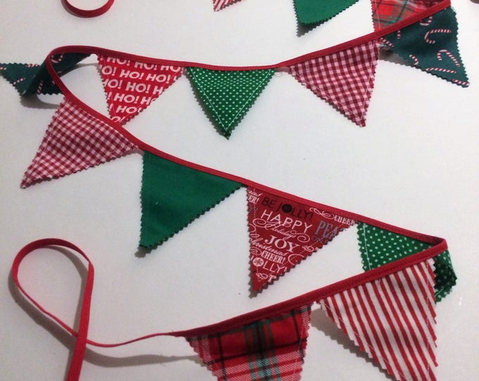CUSTOM LISTING - Christmas Mini Bunting for Laurie Garcia